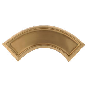 Candle holders: Arch-shaped candle holder plate in matt gold-plated brass
