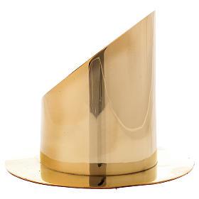 Portacero cilindrico ottone dorato lucido diam 8 cm s2