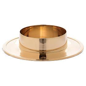 Portacirio simple latón dorado diám 8 cm s2