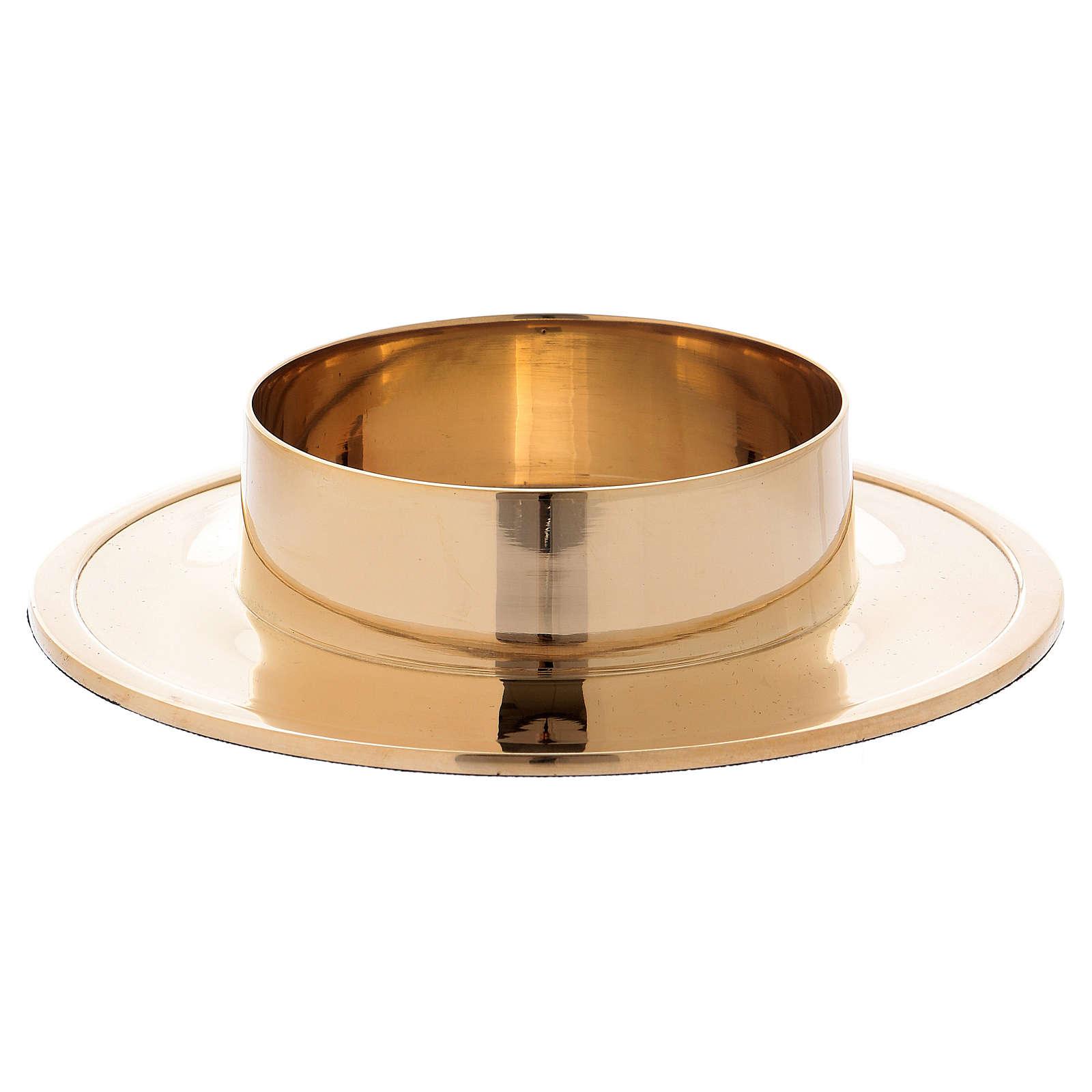 Porte-cierge simple laiton doré diam. 8 cm 4