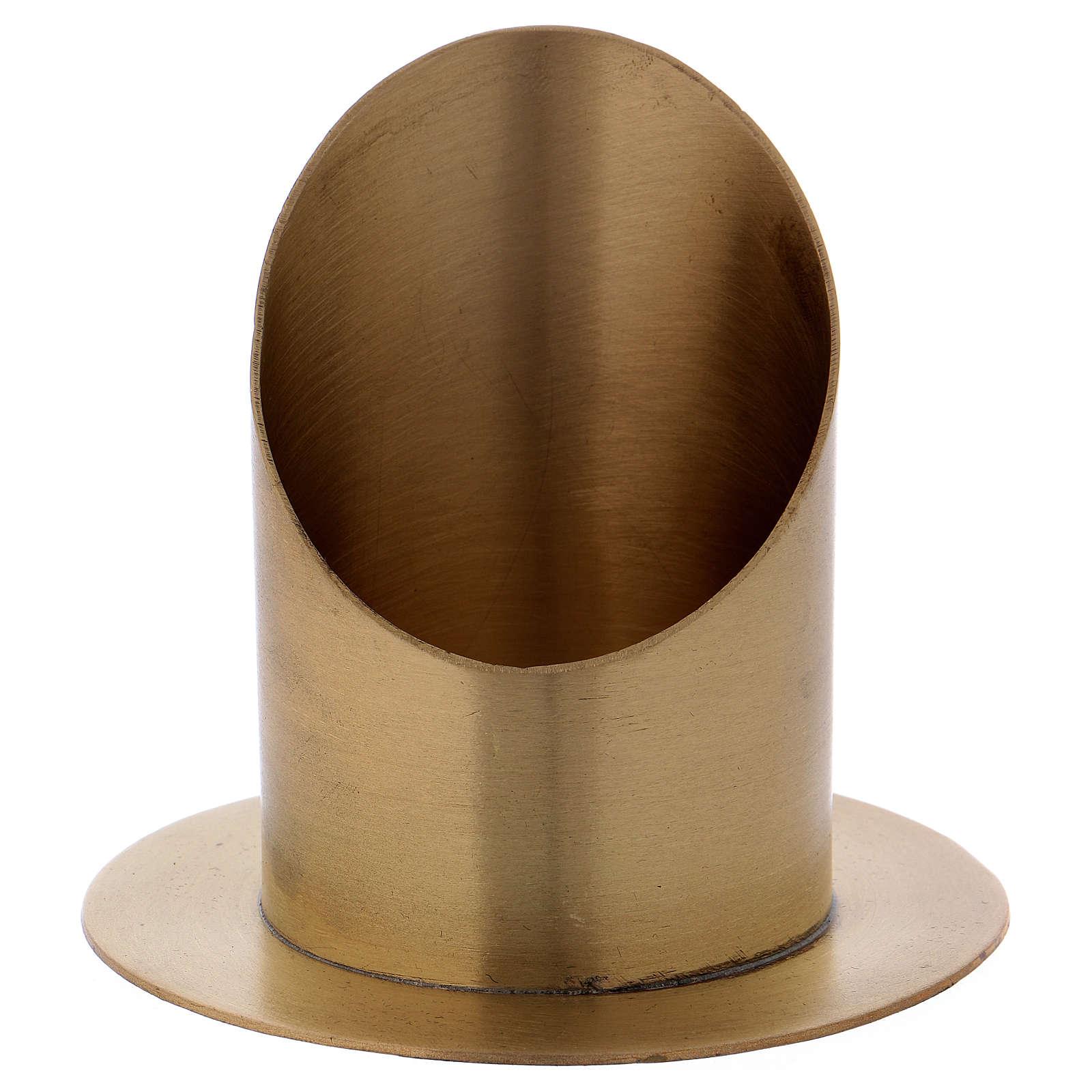 Portacero cilindrico ottone dorato opaco diam. 7 cm 4