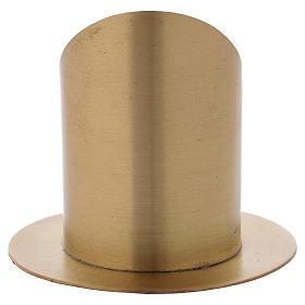 Portacero cilindrico ottone dorato opaco diam. 7 cm s3