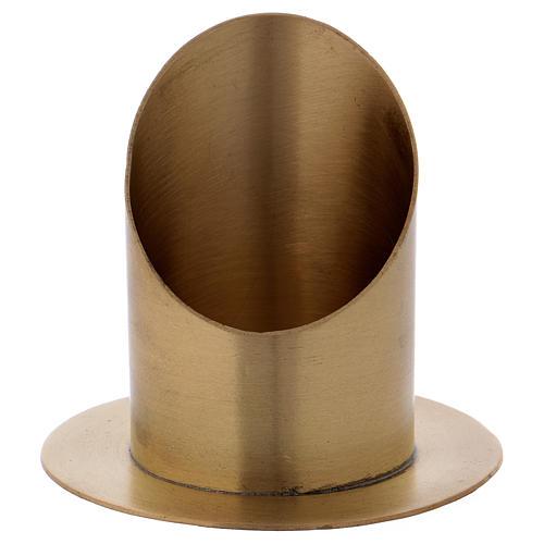 Portacero cilindrico ottone dorato opaco diam. 7 cm 1