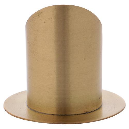 Portacero cilindrico ottone dorato opaco diam. 7 cm 3
