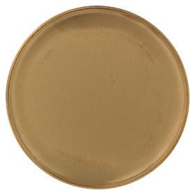 Piattino portacero ottone dorato opaco 17 cm s1