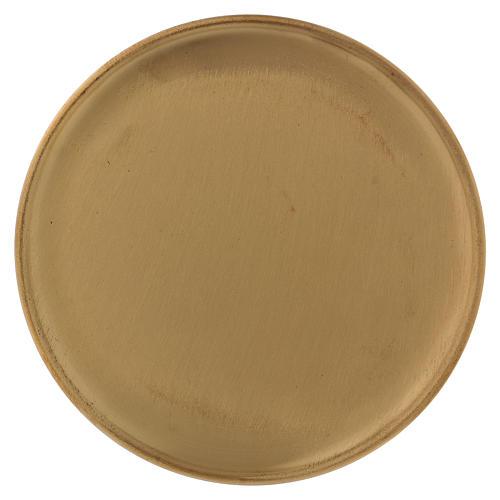 Piattino portacero ottone dorato opaco 17 cm 1