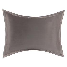 Piattino portacero bordi concavi ottone argentato s1