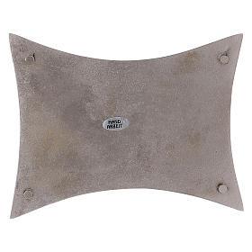 Piattino portacero bordi concavi ottone argentato s3