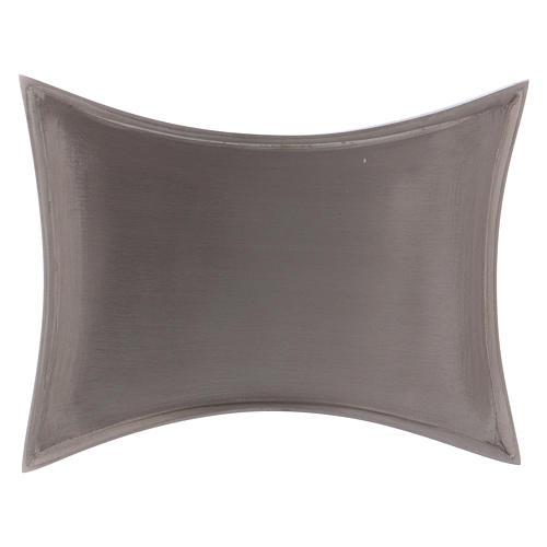 Piattino portacero bordi concavi ottone argentato 1