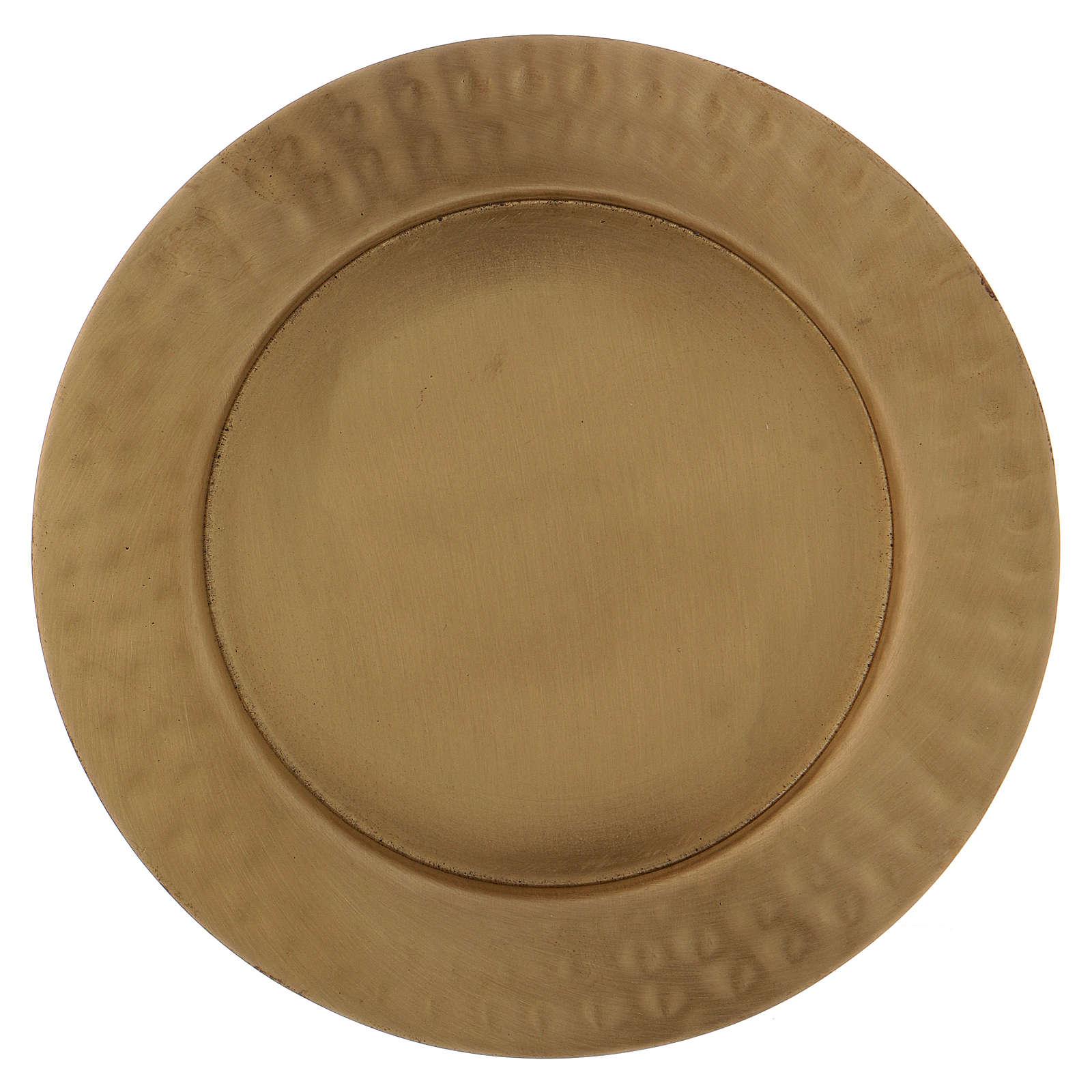 Piattino portacero bordo puntellato ottone dorato opaco 3
