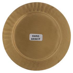Piattino portacero bordo puntellato ottone dorato opaco s3