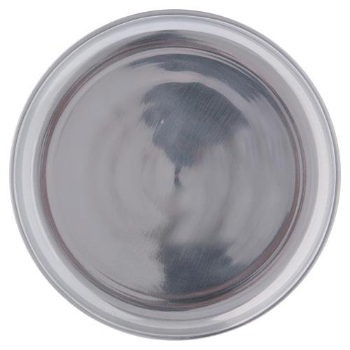 Piattino portacero semplice ottone argentato lucido 1