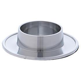 Piattino portacero semplice ottone argentato 7 cm s1