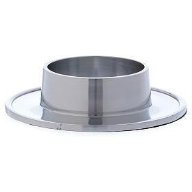 Piattino portacero semplice ottone argentato 7 cm s2