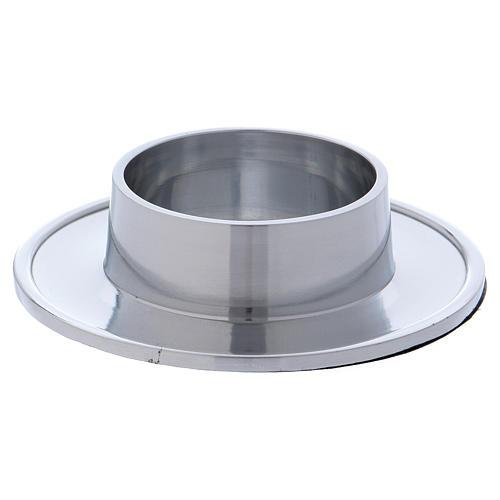 Piattino portacero semplice ottone argentato 7 cm 1