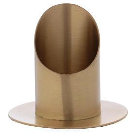 Portacero cilindrico ottone dorato satinato 6 cm s1