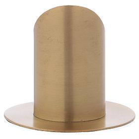 Portacero cilindrico ottone dorato satinato 6 cm s3