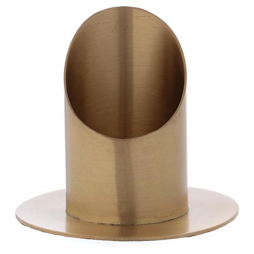Portacero cilindrico ottone dorato satinato 6 cm 1