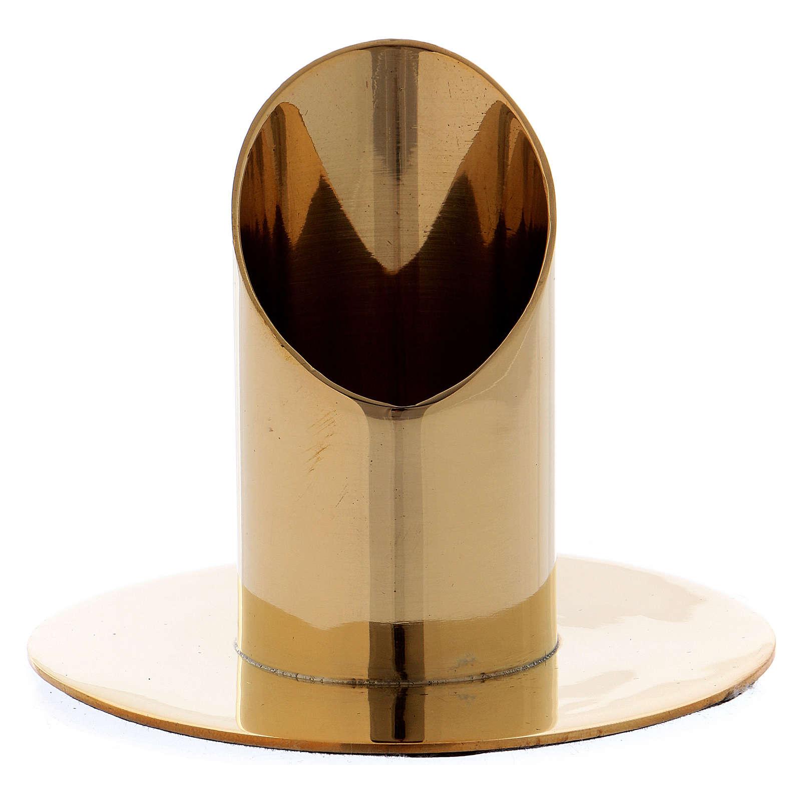 Portacandela cilindrico ottone dorato lucido 3,5 cm 4