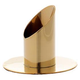 Portacandela cilindrico ottone dorato lucido 3,5 cm s2