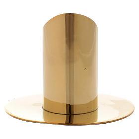 Portacandela cilindrico ottone dorato lucido 3,5 cm s3