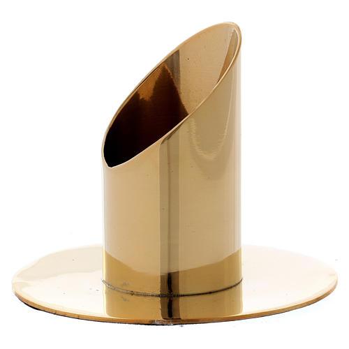 Portacandela cilindrico ottone dorato lucido 3,5 cm 2