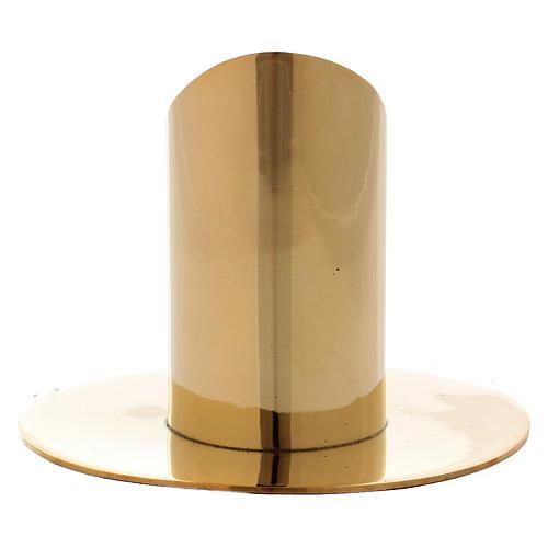 Portacandela cilindrico ottone dorato lucido 3,5 cm 3