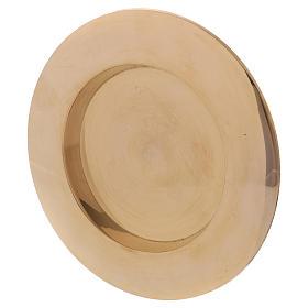 Portavela clásico latón dorado 7 cm s2