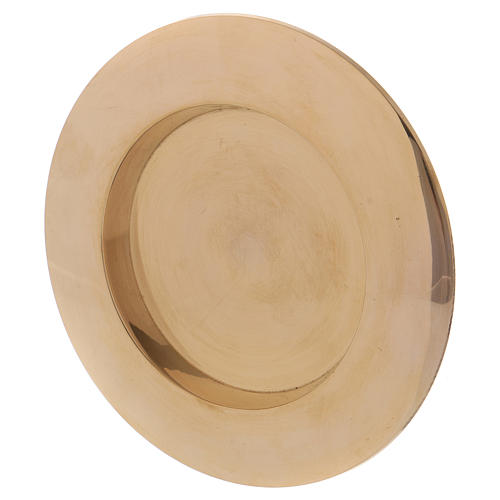 Portavela clásico latón dorado 7 cm 2
