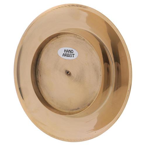 Portavela clásico latón dorado 7 cm 3
