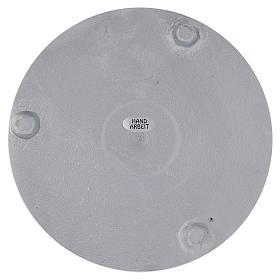 Piattino portacero rotondo alluminio argentato satinato 15 cm s2