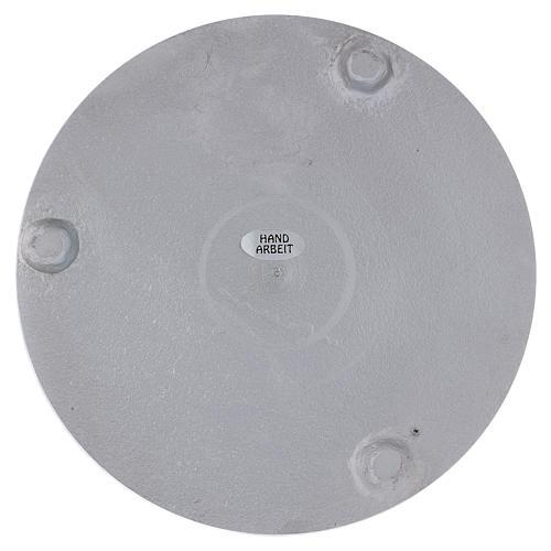 Piattino portacero rotondo alluminio argentato satinato 15 cm 2