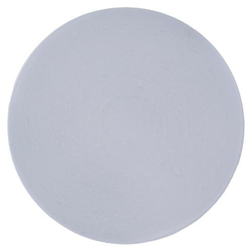 Piattino portacandela rotondo alluminio bianco 14 cm 1