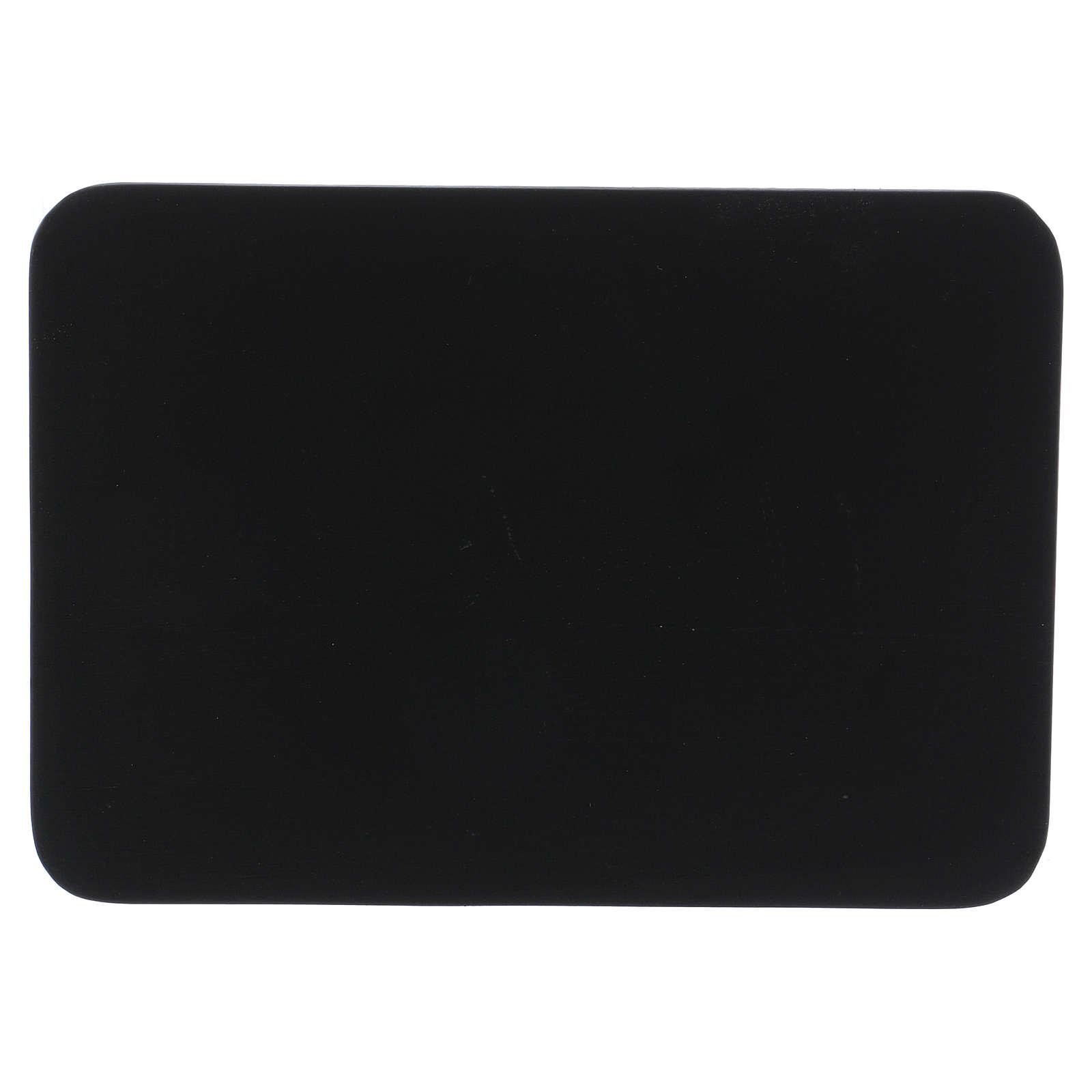 Piattino portacandela rettangolare alluminio nero 17x12 cm 3