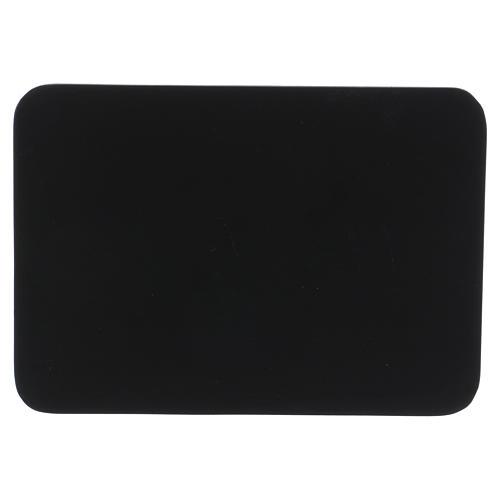 Piattino portacandela rettangolare alluminio nero 17x12 cm 1