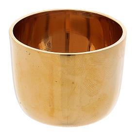 Candeleros de metal: Anillo portavela 4 cm latón dorado