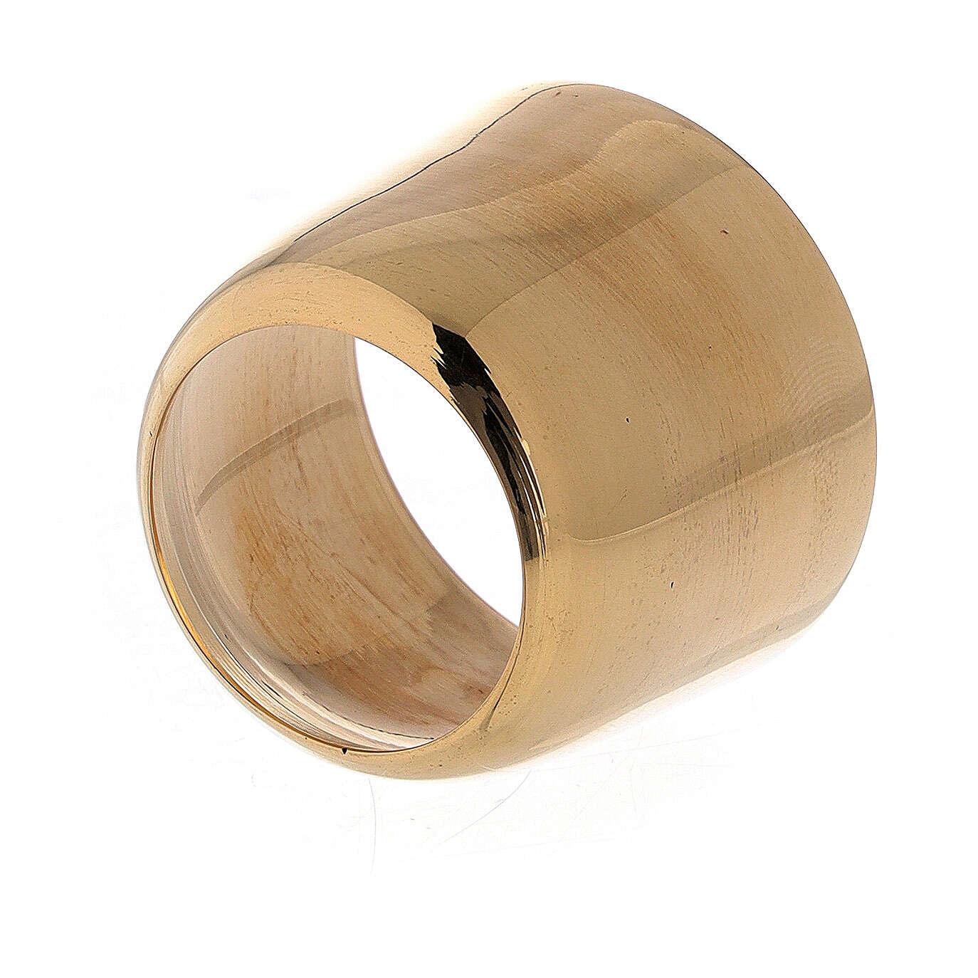 Anello portacandela 4 cm ottone dorato 4