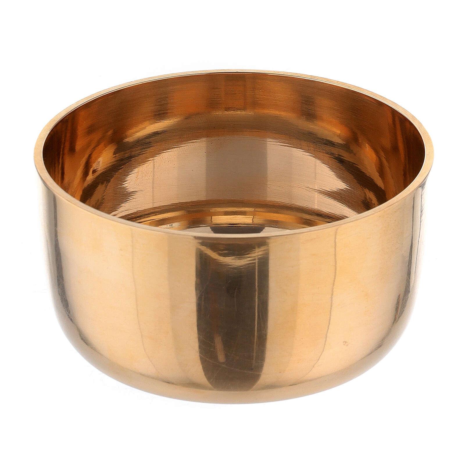 Anello portacandela 3.5 cm ottone dorato 4
