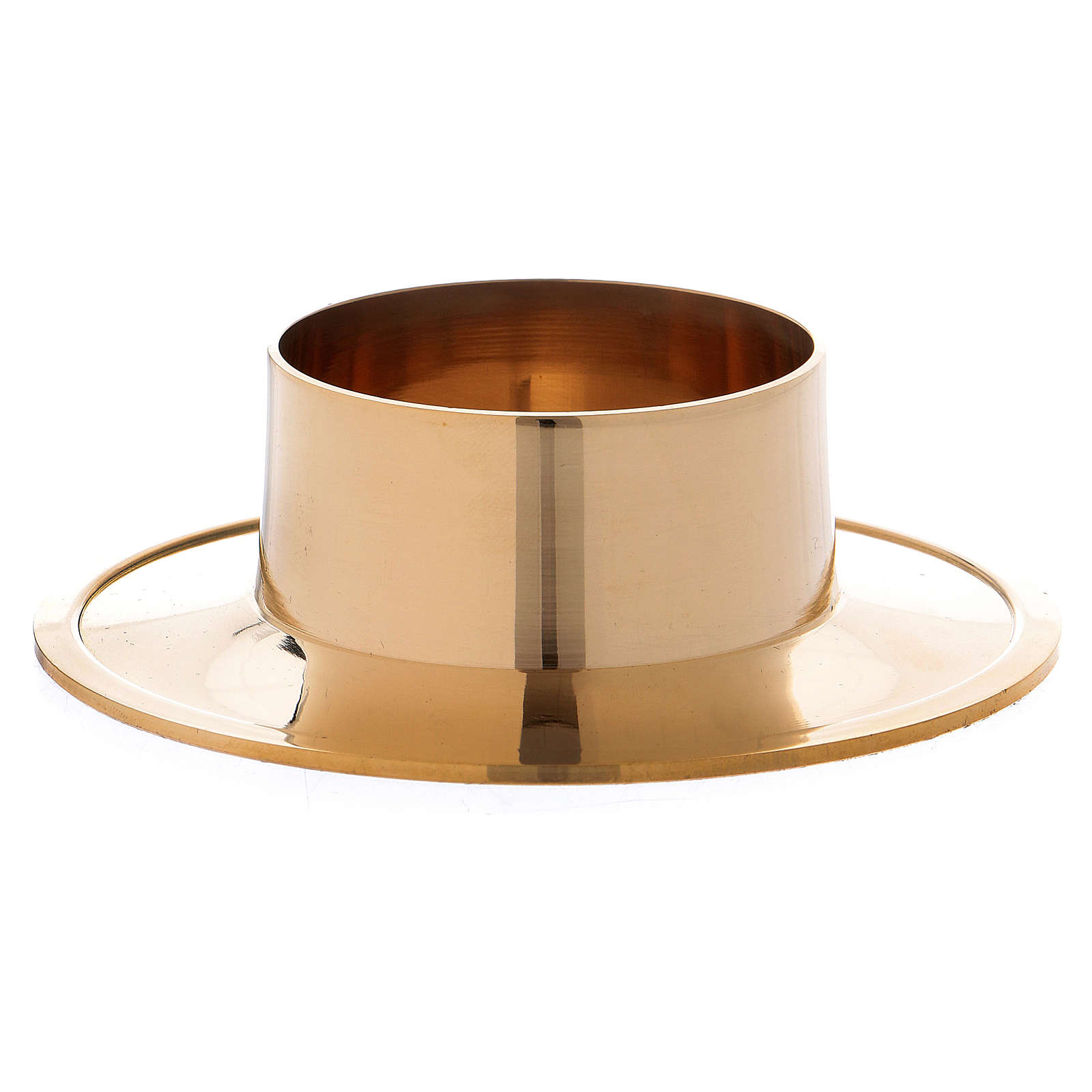 Portacandela semplice ottone dorato lucido 5 cm 4