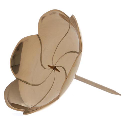 Portacandele per Avvento fiore di loto 10 cm 2