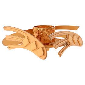 Candelero dorado latón fundido h 2 cm s2