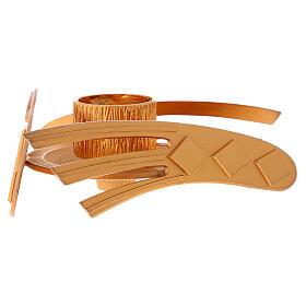 Candelero dorado latón fundido h 2 cm s3