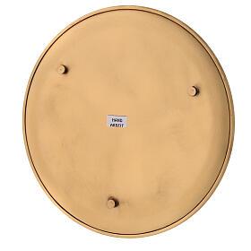Candle holder plate diameter 21 cm satin golden brass s4