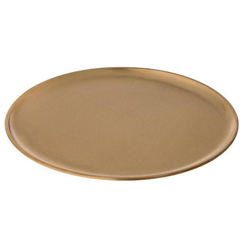 Plato portavela diámetro 21 cm latón dorado satinado 1