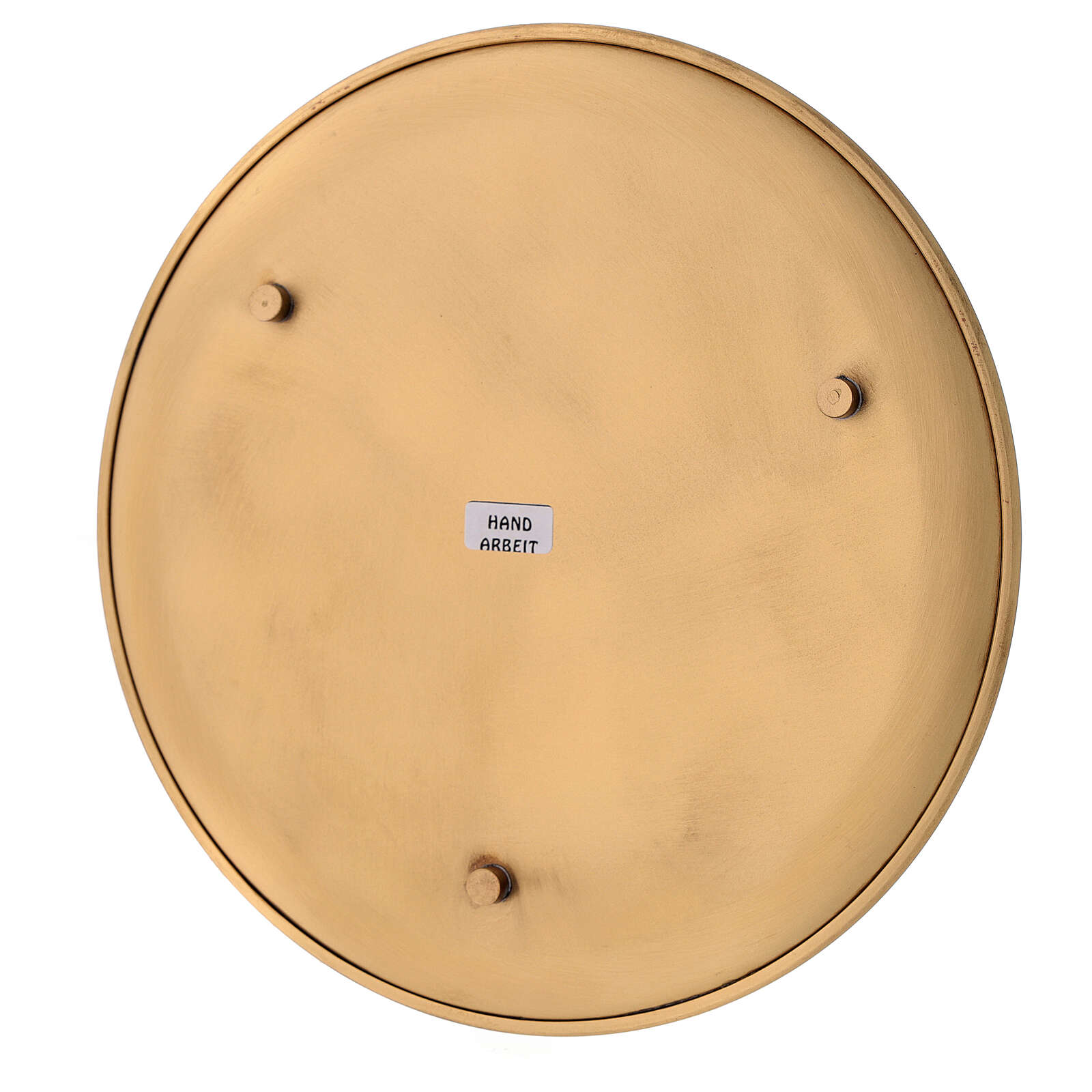 Assiette porte-bougie diamètre 21 cm laiton doré satiné 3