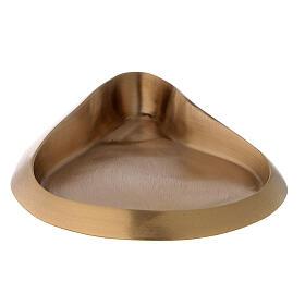 Plato portavela gota color oro satinado s1