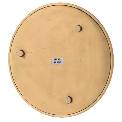 Plato para vela latón dorado lúcido diámetro 17 cm 4