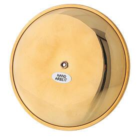 Punta vela para corona adviento latón dorado lúcido diám 12 cm s4