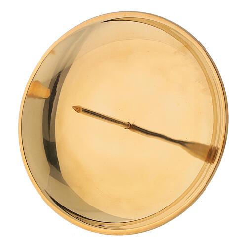 Punta vela para corona adviento latón dorado lúcido diám 12 cm 3