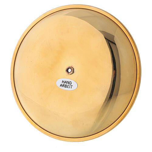 Punta vela para corona adviento latón dorado lúcido diám 12 cm 4